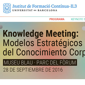 Knowledge Meeting BCN 2016 (Actualización)